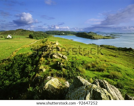 loch beag at craignish point argyll scotland uk gb - stock photo