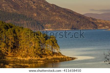 Loch Carron, West Highlands, Scotland - stock photo