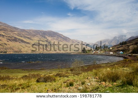 Loch Duich, Scottish Highlands - stock photo