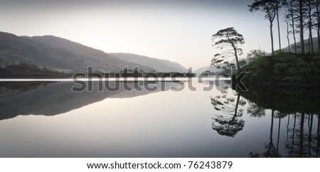 Loch Eilt at Dawn - stock photo