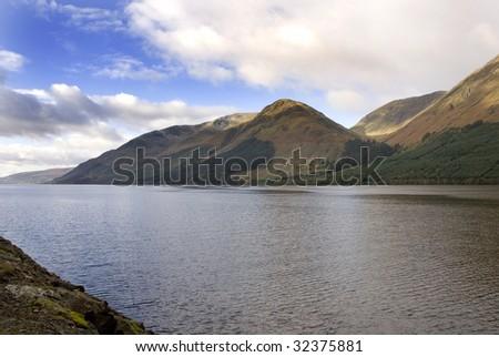Loch Lochy, Scotland, autumn view - stock photo