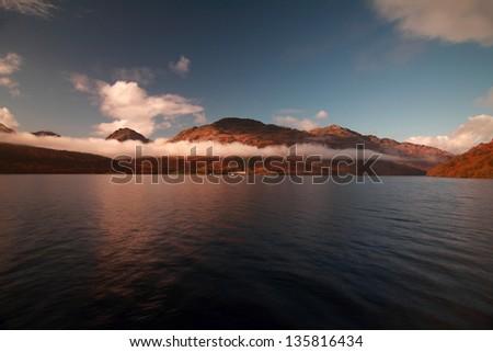 Loch Lomond and the Arrochar Alps, Scotland - stock photo