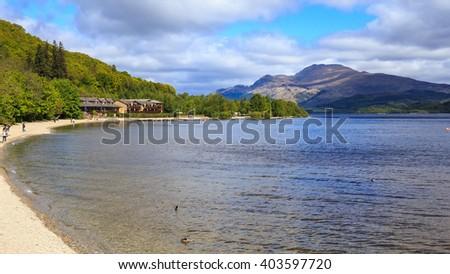 Loch Lomond shores. Scotland - stock photo