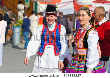 "LOCHOW, POLAND -JUNE 25, 2011: The International Folklore Meetings ""Kupalnocka"" is listed in the calendar of cultural events Mazovia as public meetings devoted to the promotion of folklore"