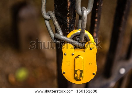 Lock & Chain - stock photo