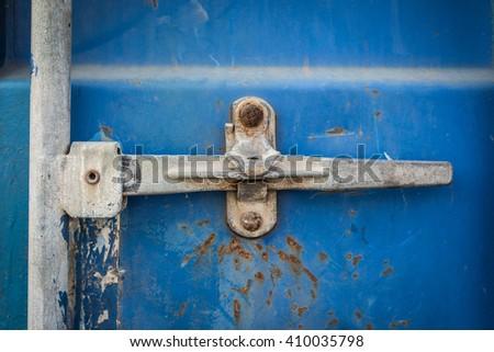 lock for container door. - stock photo