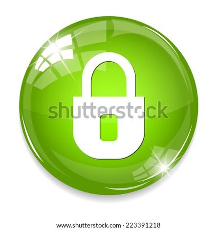 lock icon  - stock photo