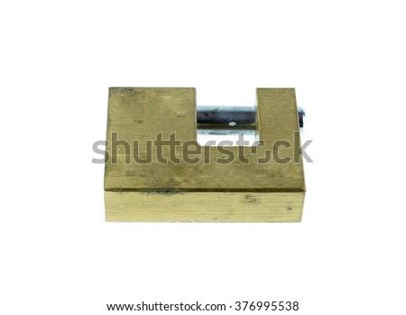 Lock isolated on white background. - stock photo