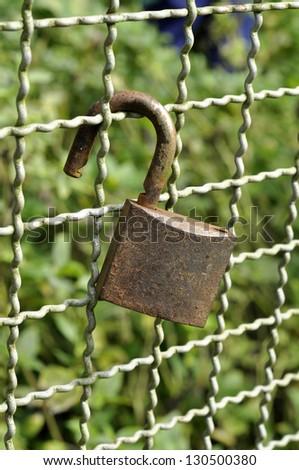 Lock Key Rust Hang Old - stock photo