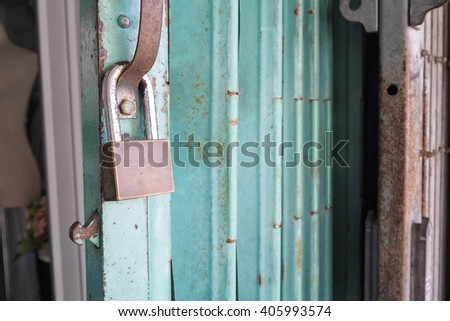 Lock,locked,lock iron - stock photo