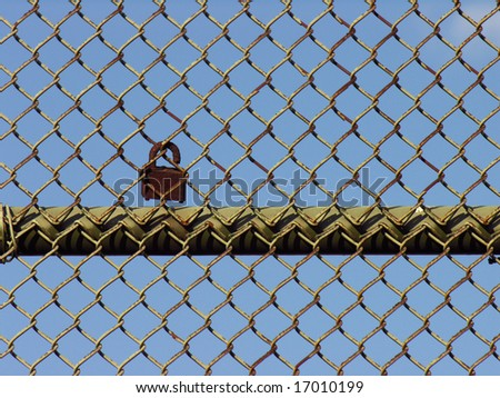 lock on fence