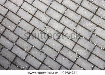 Lock Pavement Top View Background - stock photo