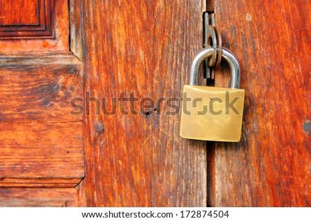 Lock the door - stock photo