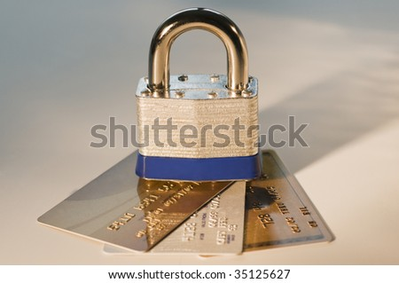 Lock with Credit Cards