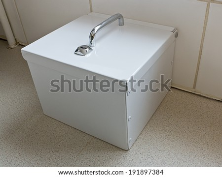 Lockable drugs cabinet in a domestic household - stock photo