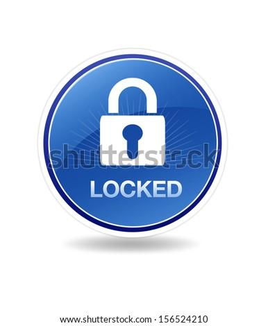 Locked Icon - stock photo