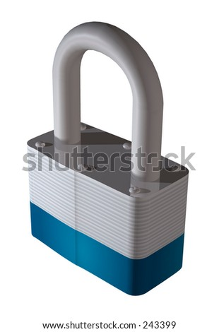 Locked Lock - stock photo