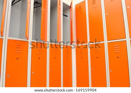 Locker, clothes locker in a gym. - stock photo