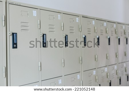 Locker in University - stock photo