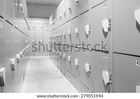Locker Room - stock photo