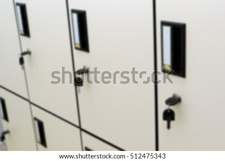 Lockers Cabinets Furniture In A Locker Room At School Or University For  Student Blur Image For