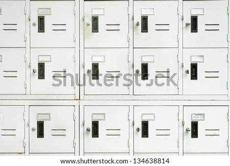 Lockers cabinets in a locker room. - stock photo