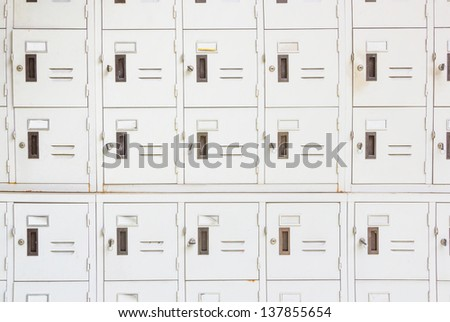 Lockers cabinets in a locker room - stock photo