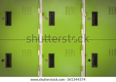 Lockers cabinets in a locker room. - stock photo