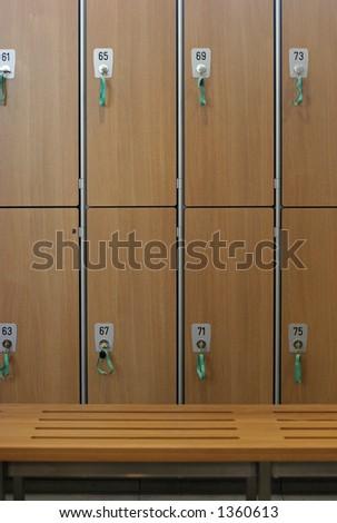 Lockers in a locker room - stock photo