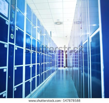 lockers Perspective  - stock photo