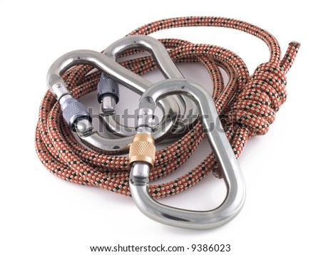 locking carabiners and rope