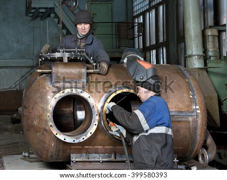 Locksmiths   Boilermakers  repair  of  ship  equipment  factory