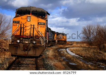 Locomotives sitting on a siding in Bliss, Idaho