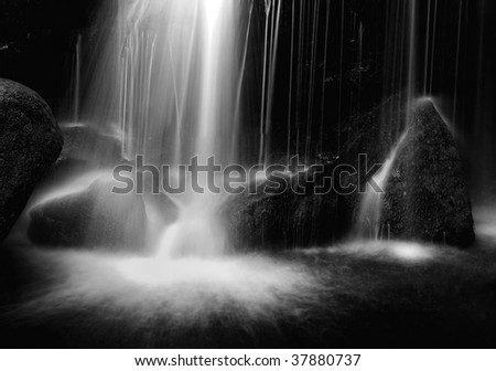 Lodore Falls, Borrowdale, English Lake District - stock photo