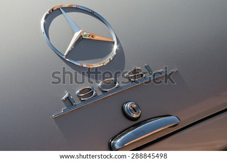 LODZ, POLAND - JUN 4, 2015; Mercedes 190 SL logo