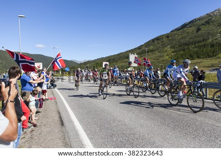Lofoten, Norway - August 10, 2013; Running from Thursday August 8th to Sunday 11th 2013, the first edition of the Arctic Race of Norway covered a total distance of 705 kilometers.