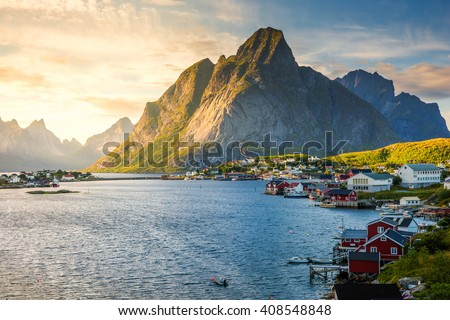 Lofoten, Reine, Norway,  - stock photo