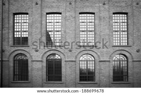 Loft wall - stock photo