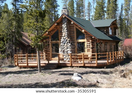 Log Cabin in the Mountains of Idaho