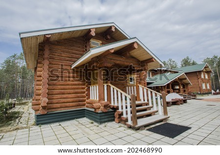 "Log house in the guest complex ""Wildlife"" (Russia, Arkhangelsk region, Onega Peninsula)"