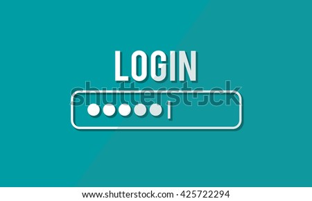 Log In Interface Password Security Concept - stock photo