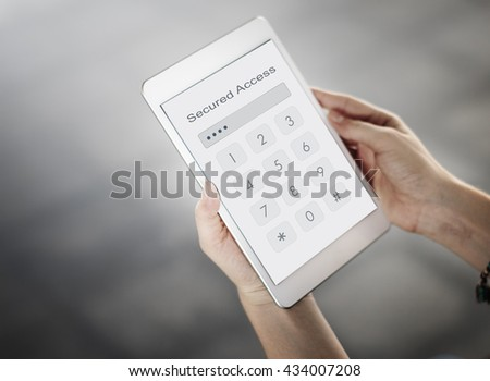 Log in Secured Access Verify Identity Password Concept - stock photo