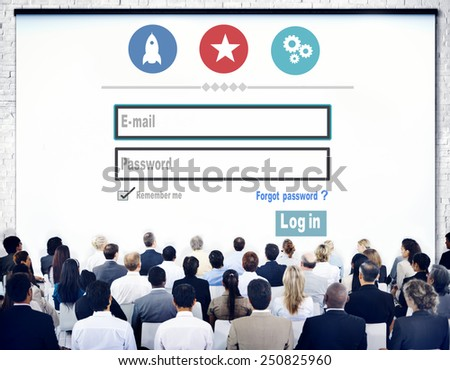 Log in Security Username Password Protection Privacy Concept - stock photo