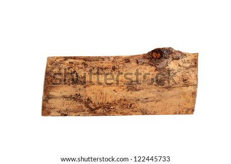 Log. Isolated on a white background.
