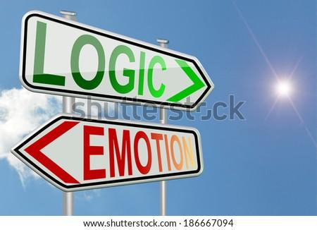 logic emotion sun and cloud - stock photo