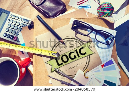 Logic Logical Reasonable Critical Thinking Concept - stock photo