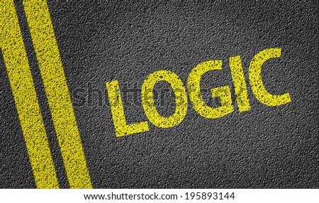 Logic written on the road - stock photo