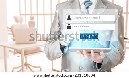 login and password - stock photo