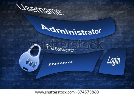 Login Box with Username and Password - stock photo