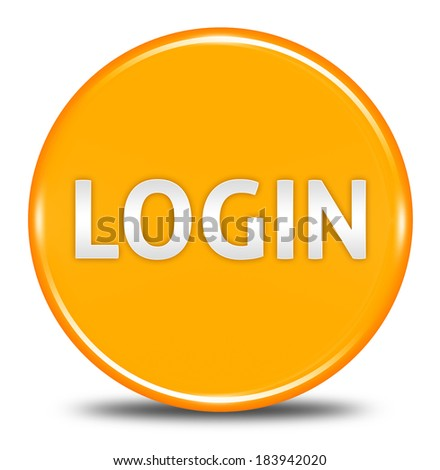 login button isolated  - stock photo